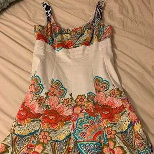 Nine West fitted flair dress